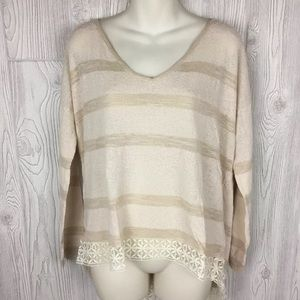Free People Top Oversized Ivory Size M